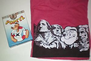 Popeye Mount Rushmore XL T Shirt and 75th Anniversary DVD Set London Ontario image 1