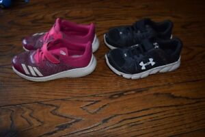 Kids Runners size 13 (UnderArmour and Addidas)