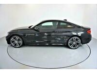 2017 BLACK BMW 430D 3.0 M SPORT DIESEL AUTO 2DR COUPE CAR FINANCE FR £321 PCM