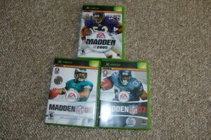 Football. Madden NFL '05 '06 '07 Xbox. 3 games for $5