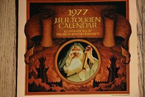 ART LORD OF THE RINGS HILDEBRANDT 1977 CALENDAR