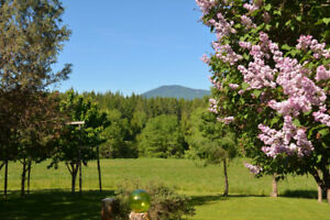 home on 20 acres in beautiful creston valley b.c.