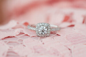 """Michael Hill """"Allegro"""" 1.15 C Engagement ring and wedding band"""