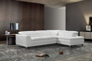 Leather Sectional with  Adjustable headrests