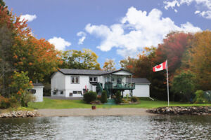 Private Home With In-Law Suite on Large Waterfront Lot