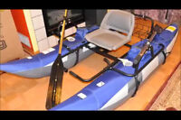 Row fishing boat for electric motor