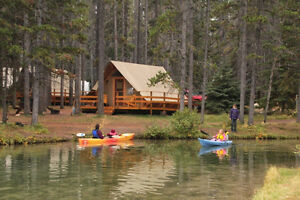 Otentik for rent at Lake Minnewanka Sunday June 18-Tues June 20