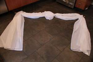 Sheer valance and curtain rod