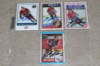 4 SIGNED GUY LAFLEUR MONTREAL CANADIANS HOCKEY CARDS