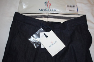 $550 Moncler 1952 Indigo Denim Slim Fit Chino Pants 32x32