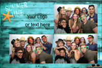 Open-air photo booths - enough room for the whole family!