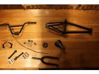 Stereo BMX Frame, Bars, Forks, Pedals, Sprocket And Stem Etc