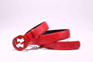 Brand New Gucci Real Leather Belt Red On Red