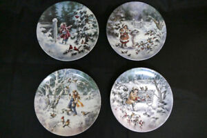 A Season For Song Collector Plates by Mimi Jobe - 4 Plates