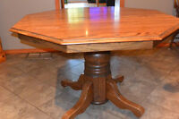 Solid Wood Table with 4 Captain chairs