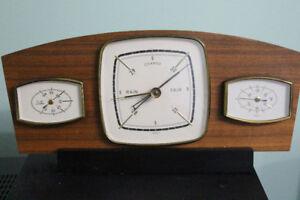 German made Vintage Desk Clock Style Weather Station