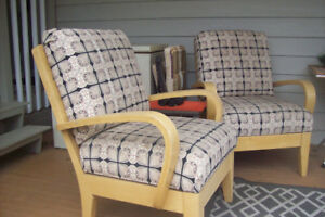 All 4 Blonde Maple solid wood Chairs