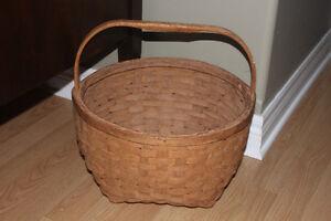 Antique Mic Mac PEI Potato Basket (excellent condition)