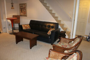 Furnished basement suite (Mon to Fri)