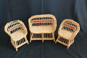 Vintage child's wicker play furniture