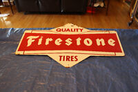 Double Sided Metal Firestone Sign SOLD!!!