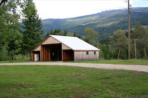 Sicamous /Shuswap area flat 3.75 acres and 3bed house