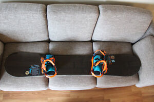 RIDE snowboard with K2 bindings