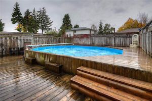 On-ground swimming pool for free