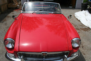 64 MGB ROADSTER, RESTORED WITH OVERDRIVE