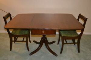Duncan and Fyfe Antique Dinette table and chairs