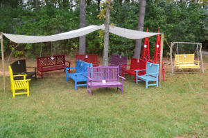 year end garden bench sale.  50% off