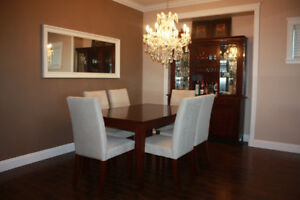 Dining set $1,200 and Living Room Set $300