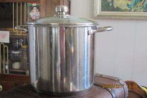 Large Stainless Steel Stock Pot with Glass Lid 18/8