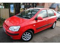 2005 (05 Plate) Hyundai Getz 1.3 CDX Auto Red 5 Door Long MOT Great Automatic Ca
