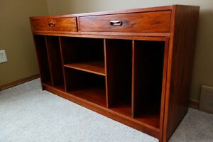Vintage Rosewood Extendable Media Unit