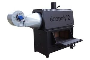 Ecopoly2 radiant wood furnace for large spaces