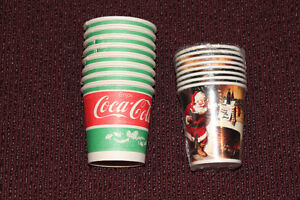 Lot of 2 different Coca-Cola Christmas cups