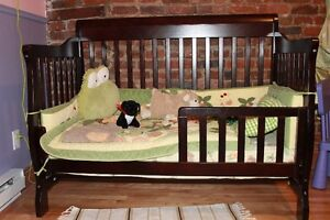 Baby crib (3 in one) -- crib, small bed, twin bed