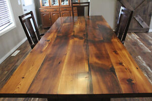 Rustic Reclaimed Wood Heritage Dining Table - Kitchen Table