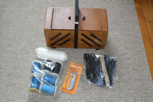 large sewing box with accessories