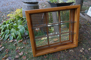 Window/Mirror with 2 Shelves Refinished Pine window frame Peterborough Peterborough Area image 3