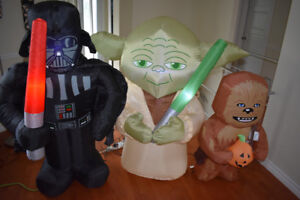 halloween gonflable decoration CHEWBACCA , YODA, DARTH VADER