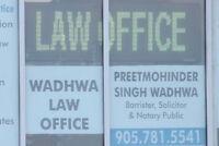 Immigration, litigation & Real Estate Lawyer. Ph: 905-781-5541