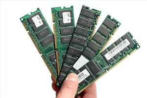 Assorted Computer Memory RAM Modules (PC100, DDR, DDR2)