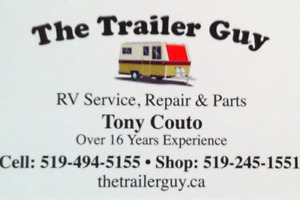 THE TRAILER GUY-RV-SERVICE-REPAIRS-PARTS-CALL TONY 519-494-5155