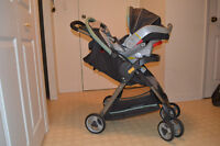 graco quick fold stroller & clasic click 30 car seat