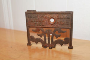 antique cash register bell plate