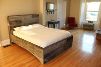 Gorgeous Queen Size Hand Crafted Barn Wood Headboard & Bed Frame