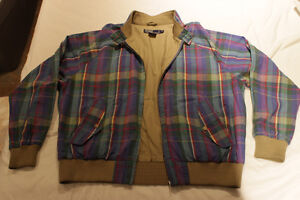 MINT Vintage POLO Ralph Lauren Light Madras Plaid Jacket - L