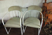 Pair of metal framed chairs - MOVING SALE